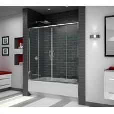 Шторка на ванну раздвижная Royal Glass of Water RGW SC-61 серия Screen 170х150 см стекло матовое