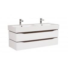 Венеция Аква Родос 120 (венге) (Консольная) тумба для ванной комнаты с умывальником Pinto 120