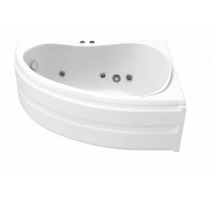 Акриловая ванна Bas Алегра 150x90 R с гидромассажем (flat brass)