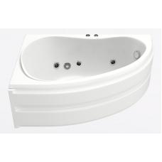 Акриловая ванна Bas Алегра 150x90 L с гидромассажем (flat brass)