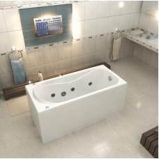 Акриловая ванна Bas Верона 150x70 с гидромассажем (Flat Brass)