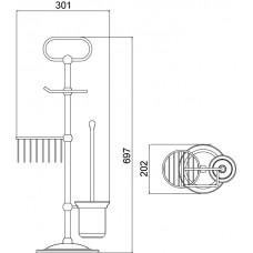 Душевой комплект скрытого монтажа Timo Nelson SX-1390/00SM chrome (2-х режимная, с термостатом)