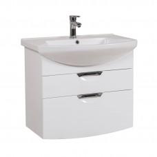 Глория Аква Родос 75 (Консольная) Тумба под умывальник для ванной комнаты в комплекте с умывальником EVITA