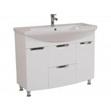 Глория Аква Родос 108 Тумба под умывальник для ванной комнаты в комплекте с умывальником EVITA 110 см