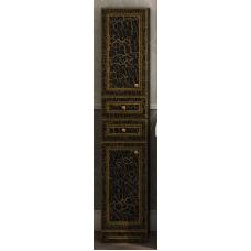 Пенал Misty Fresko 35 L с 2-мя ящиками черный патина