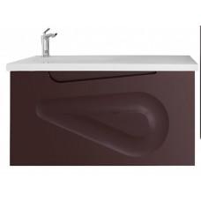 Тумба подвесная Vod-ok Elite Арнелла  Капля 100/Я  Шоколад