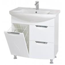 Глория Аква Родос 75 Тумба под умывальник для ванной комнаты в комплекте с умывальником EVITA