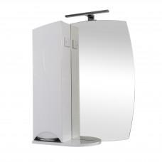 Глория Аква Родос Зеркало 55(L) для ванной комнаты 568*820*170 в комплекте с подсветкой Omega LED