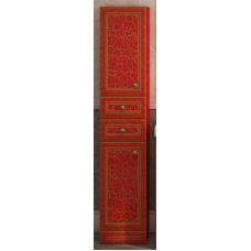 Пенал Misty Fresko 35 L с 2-мя ящиками красный патина