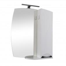 Глория Аква Родос Зеркало 55(P) для ванной комнаты 568*820*170 в комплекте с подсветкой Omega LED