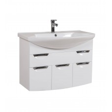 Глория Аква Родос 90 (Консольная) Тумба под умывальник для ванной комнаты в комплекте с умывальником EVITA 90 см