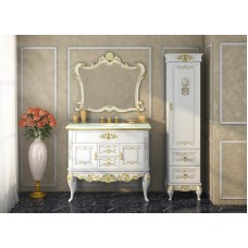Пенал Misty Bianco 40 L белый сусальное золото