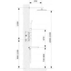 Душевой комплект Timo Petruma SX-5059/00SM chrome (2-х режимная, с термостатом)