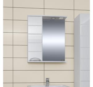 Зеркало  Санта  Родос 60 со шкафчиком правый свет