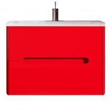 Тумба с раковиной Vod-ok Elite Флорена Красная 80 см