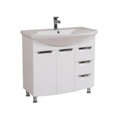 Глория Аква Родос 90 Тумба под умывальник для ванной комнаты в комплекте с умывальником EVITA