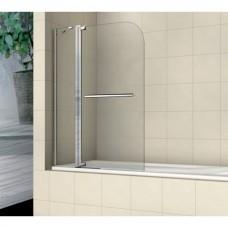Шторка на ванну распашная с ручкой  Royal Glass of Water RGW SC-03 серия Screen 110х150 см стекло прозрачное (Easy Clean)