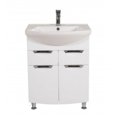 Глория Аква Родос 0265 Тумба под умывальник для ванной комнаты в комплекте с умывальником EVITA 65 см