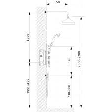 Душевой комплект скрытого монтажа Timo Nelson SX-1391/02SM antique (2-х режимная, с термостатом)