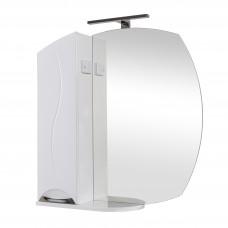 Глория Аква Родос Зеркало 75(L) для ванной комнаты 754*820*170 в комплекте с подсветкой ANDREA/Omega LED