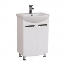 Глория Аква Родос 55 Тумба под умывальник для ванной комнаты в комплекте с умывальником EVITA